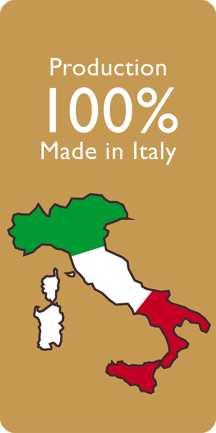Production 100% MADE IN ITALY