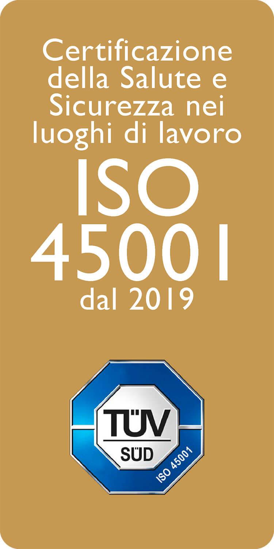 Certificazione della Salute e Sicurezza nei luoghi di lavoro ISO 45001 dal 2019
