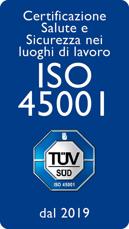 Certificazione Salute e Sicurezza nei luoghi di lavoro ISO 45001 dal 2019