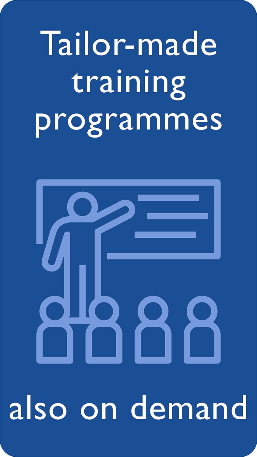 Tailor-made training programmes also on demand