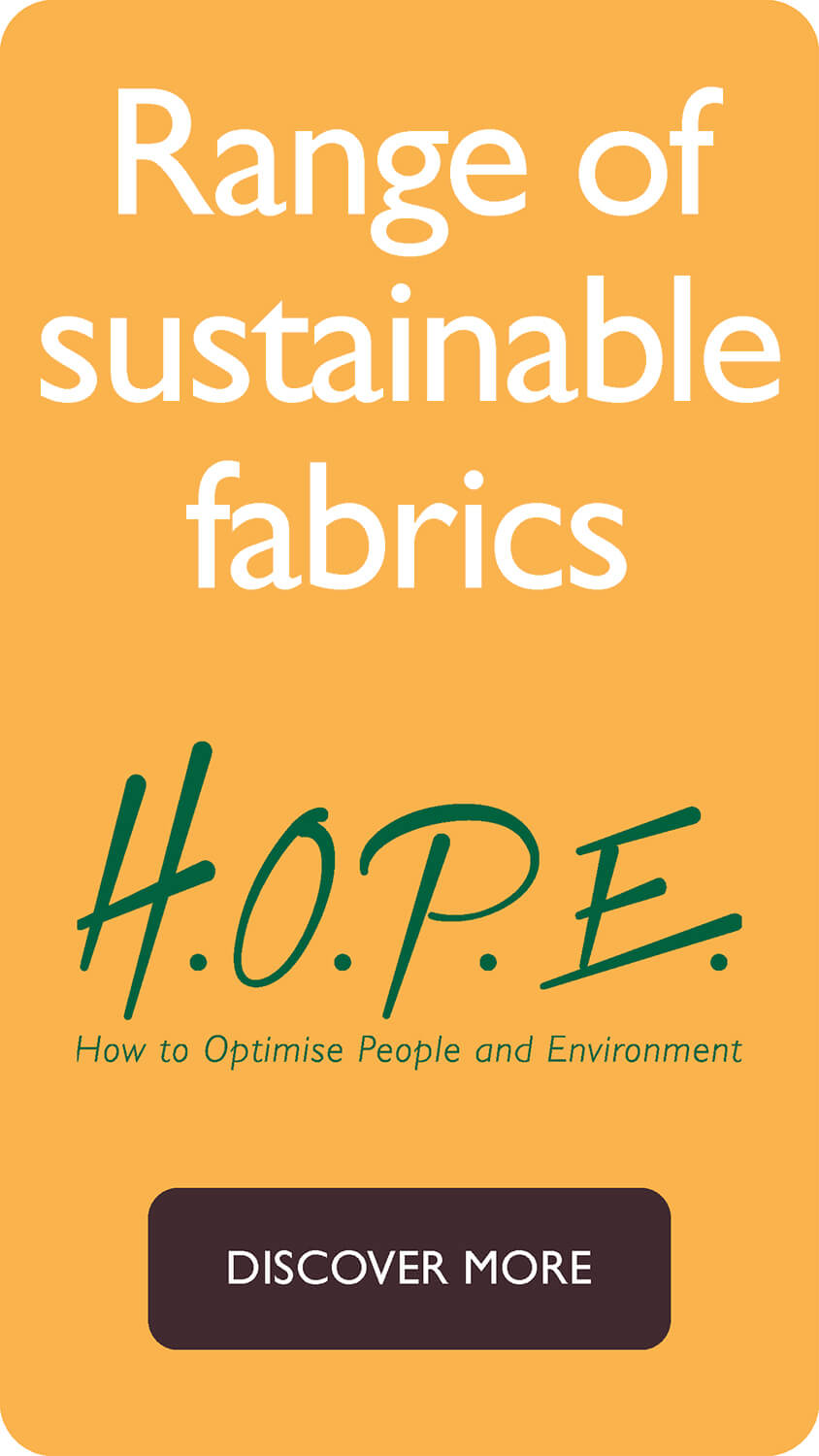 Range of sustainable fabrics