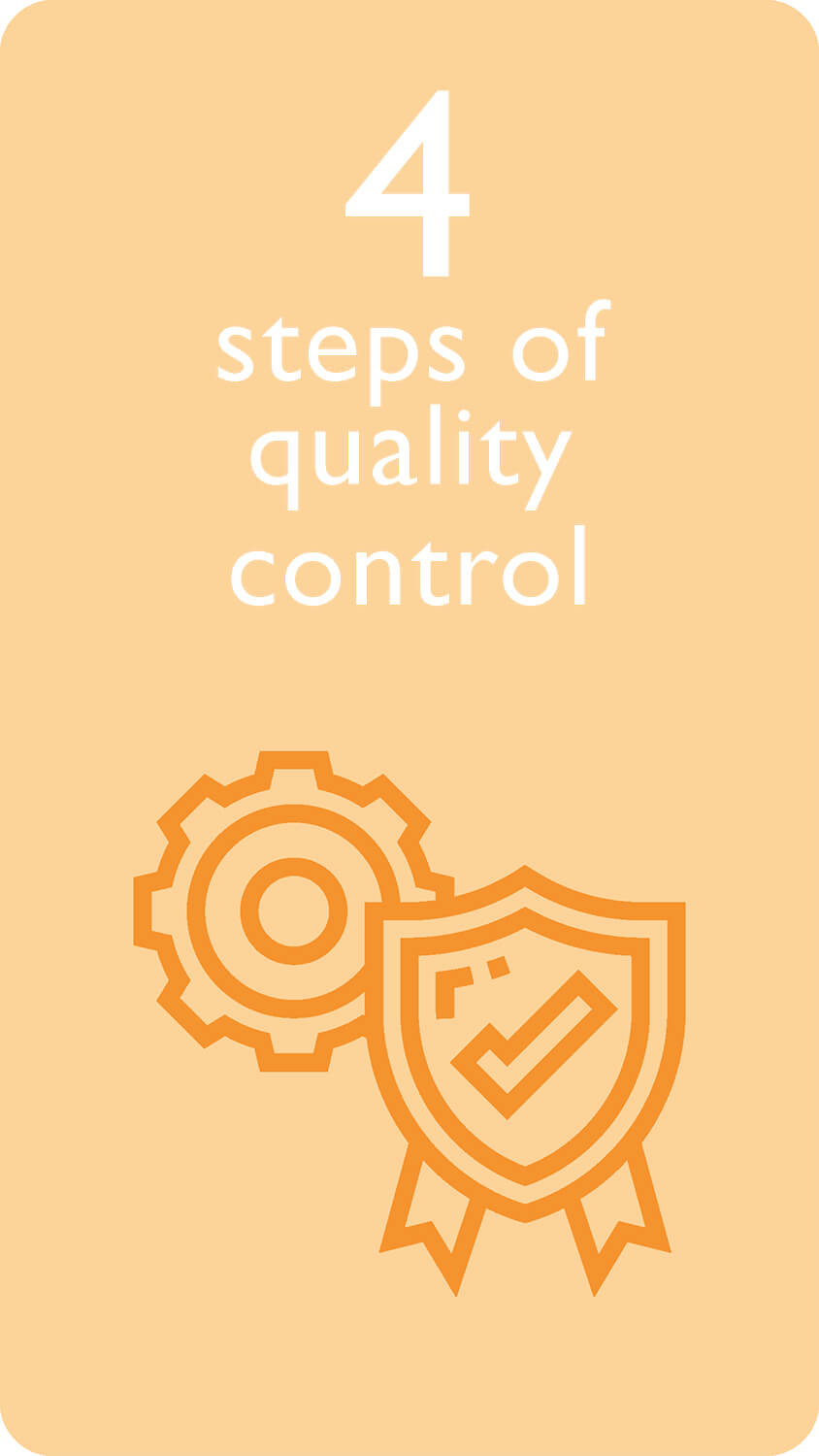 4 steps of quality control