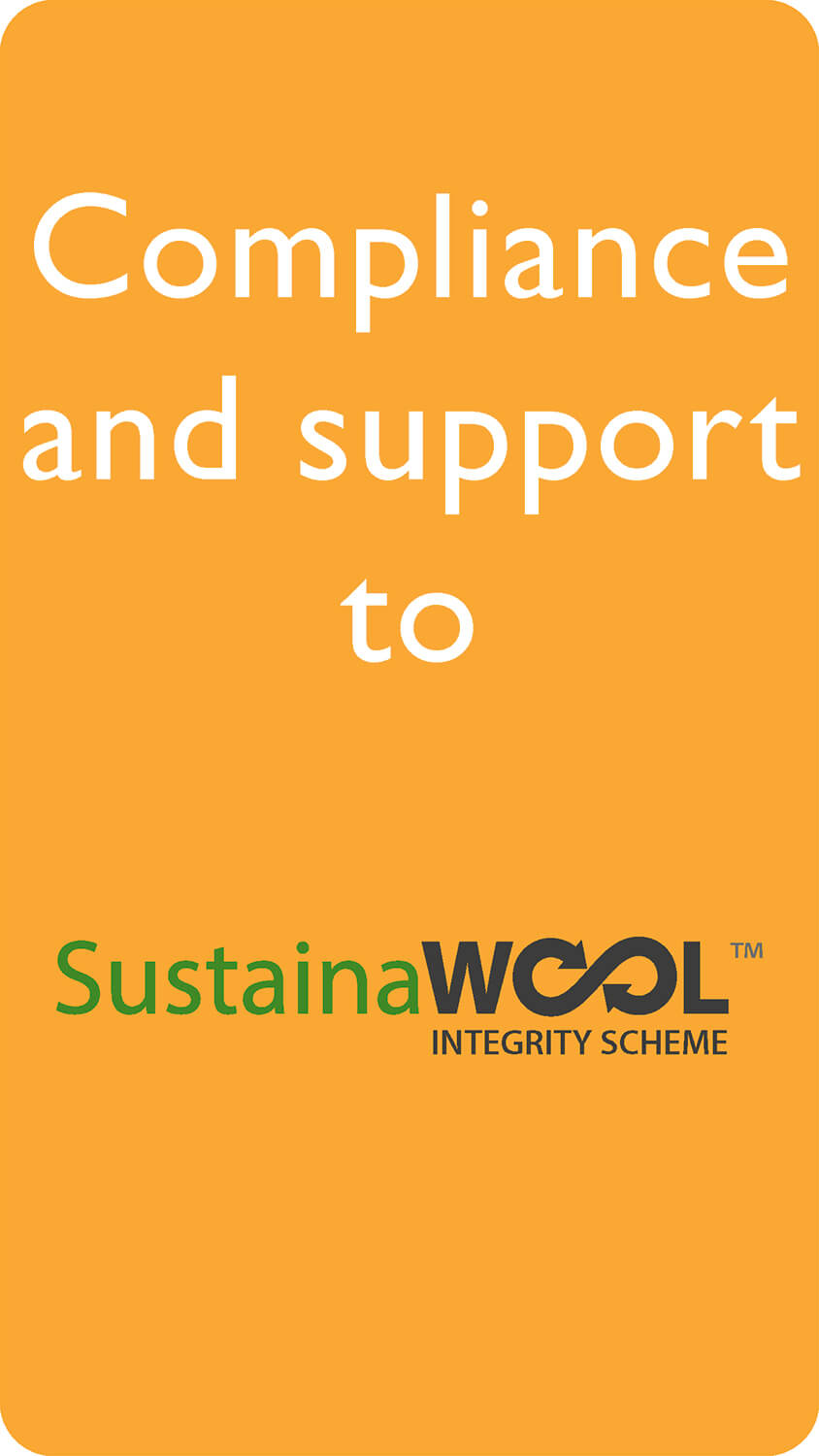 Compliance and support to SustanaiWOOL protocol