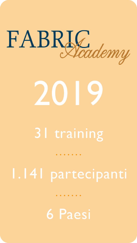 2019: 31 training 1.141 partecipanti 6 paesi