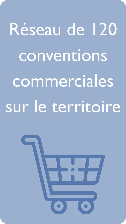 Réseau de 120 conventions commerciales sur le territoire