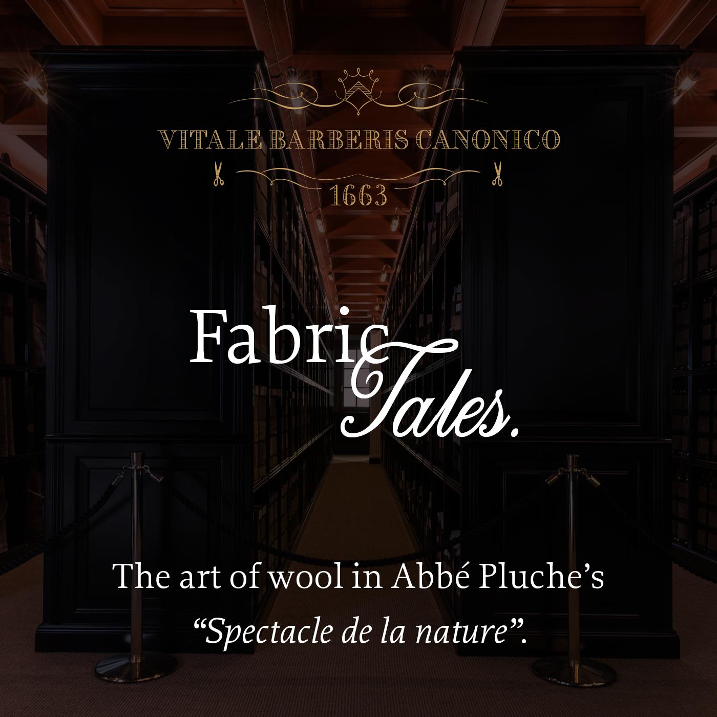 The art of wool in Abbé Pluche's